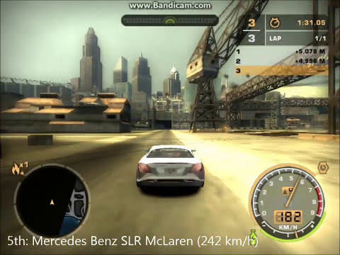 NFS Most Wanted Acceleration Test of All Fully Upgraded Obtainable Cars