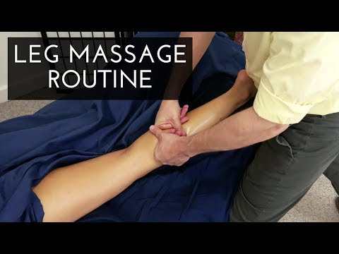 Massage Tutorial: Posterior Leg and Hip Routine