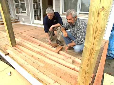 How to Install Redwood Deck - Vermont Farmhouse -  Bob Vila eps.2305