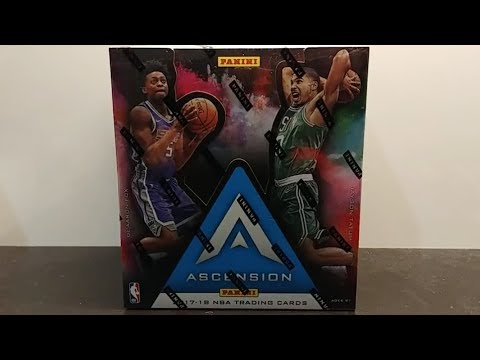 2017-18 Panini Ascension Basketball cards hobby box break and review