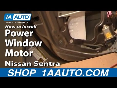 How To Install Replace Power Window Motor or Regulator Nissan Sentra 00-06 1AAuto.com