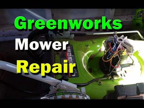 Greenworks Electric Lawn Mower Repair - Mower resets breaker does not start - replace rectifier
