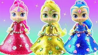Shimmer and Shine Sparkle Glitter Play Doh Dresses