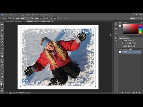 Adding Snowflakes Border to Winter Photo - Photoshop Tutorial