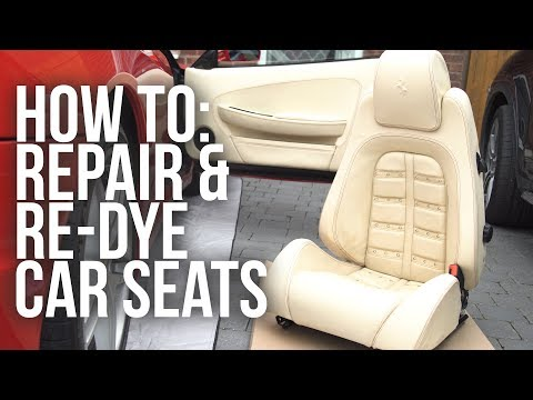 How to Repair and Re-Dye Leather Car Seats
