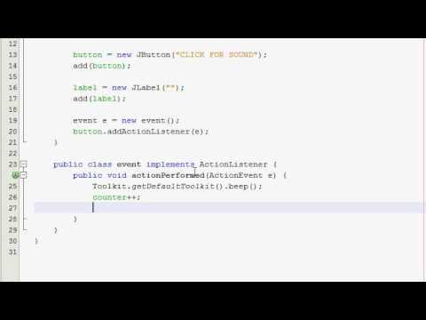 Java GUI Tutorial 9 - Beeper program