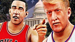 EPIC Donald Trump vs Barack Obama Presidential Basketball Battle