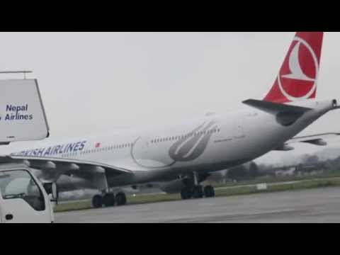 Turkish Airlines at Kathmandu airport, Nepal