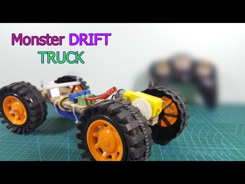 Wow! How to make a RC MONTER DRIFT TRUCK AT HOME - PART 1
