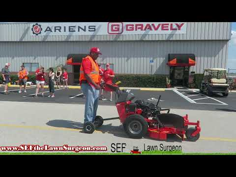 Testing Mowers at Gravely Testing Facility