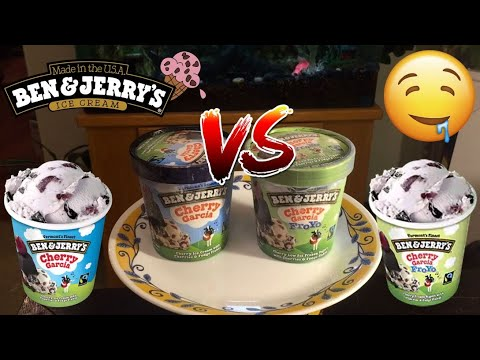 Ben & Jerry's Cherry Garcia Ice Cream VS Froyo Review!