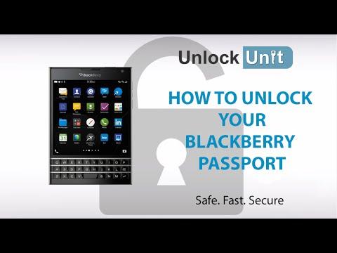HOW TO UNLOCK YOUR BLACKBERRY PASSPORT