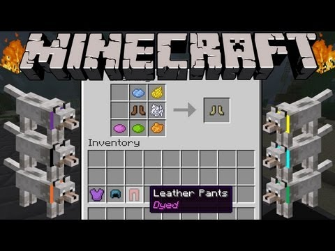 Minecraft News: Armor Dye, Wolf Collar Colors, & Fire Destruction in 1.4!