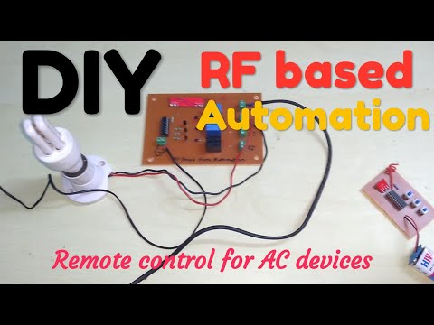Mini project!! Rf based Home Automation || mini project || electronics project