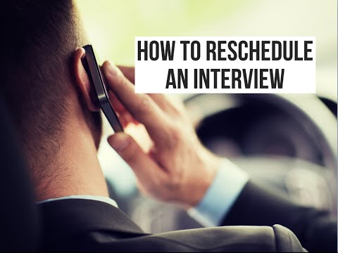 How to Reschedule an Interview