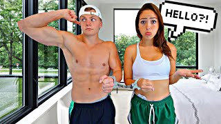 IGNORING MY GIRLFRIEND WHILE HANDCUFFED FOR 24 HOURS!