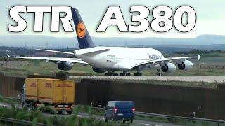 Airbus A380 Take-Off in Stuttgart, Close-Ups HD 16.08.2010