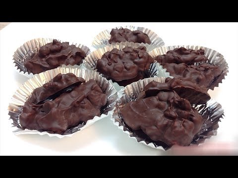 Easy Chocolate Clusters Recipe | Nuts Clusters