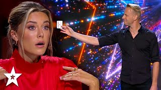 Where Are The Cards Coming From!? 1st GOLDEN BUZZER on Sweden's Got Talent | Magicians Got Talent