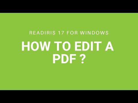 Readiris 17: Edit a PDF