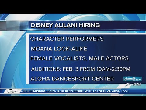 Disney Aulani casting auditions for a Moana look-alike