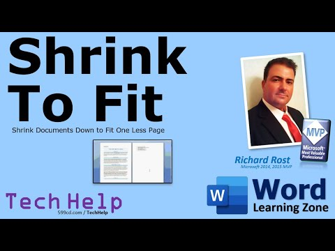 Microsoft Word 2007 Tutorial: Shrink to Fit
