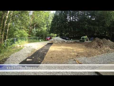 Landscaping My Front Yard - Grading and Gravel - Timelapse