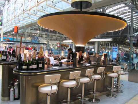 Searcys Champagne Bar in Paddington London.wmv