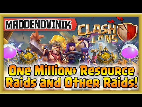 Clash of Clans - One Million+ Resource Raids and Other Raids! (Gameplay Commentary)