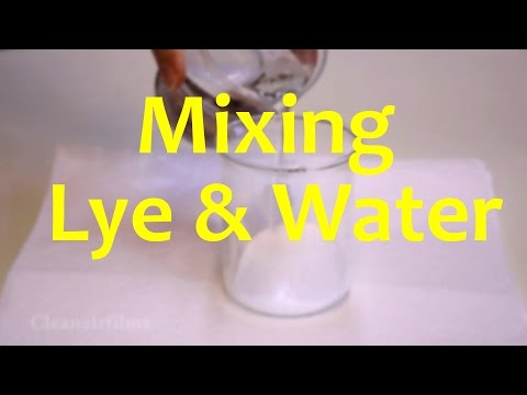 What Happens When Lye is Mixed with Water - Experiment