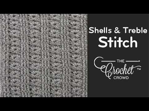 Crochet Shells & Treble Stitch