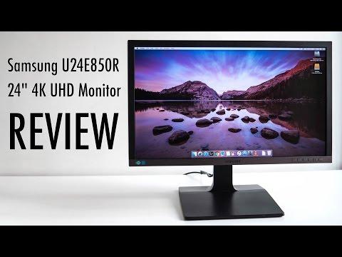 Samsung U24E850R 4K UHD Monitor Review (in 4K)