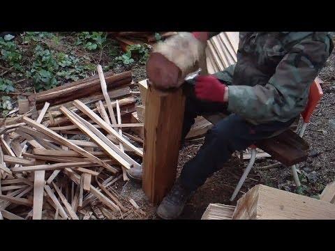 Splitting Red Cedar Shakes by Hand