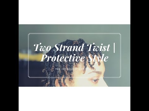 How To: Two Strand Twist Protective Style | The Introvert Lifestyle