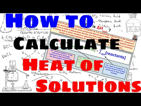How to Calculate Heat of Solutions (Enthalpy of Solution)