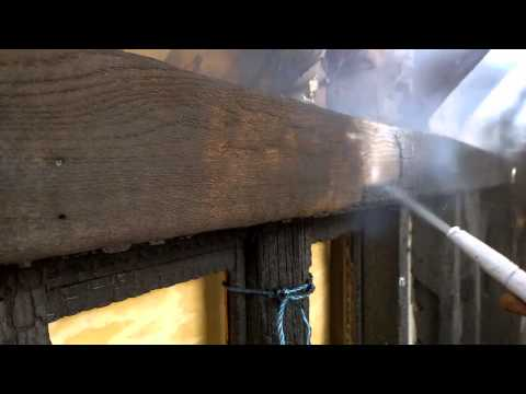 Burnt Oak Beam Cleaning
