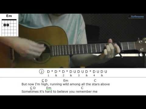 How to play High with James Blunt (Guitar lesson)