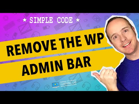 Remove The WordPress Admin Bar - Disable Admin Bar For All Users | WP Learning Lab