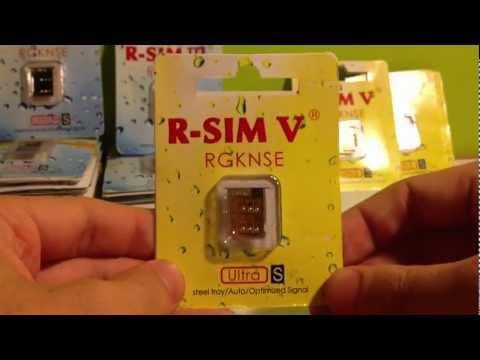 Review Unlock CDMA/GSM 4S Using R-Sim 5 (V) Compare to R-sim 3 III Unlock 4S 5.1.1/2.0.12