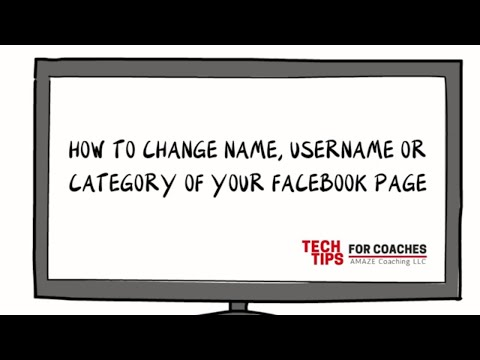 How To Change Name, Username or Category of a Facebook Page