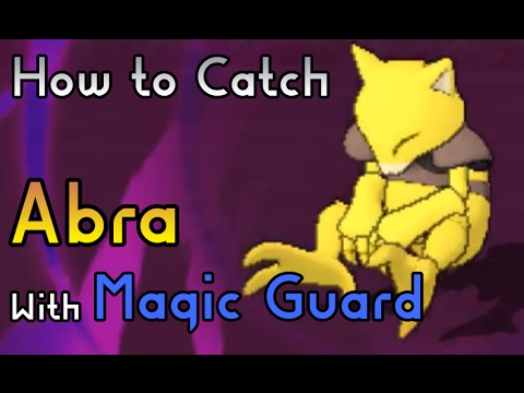 How to Catch a Abra with Magic Guard Hidden Ability - Pokemon Sun and Moon