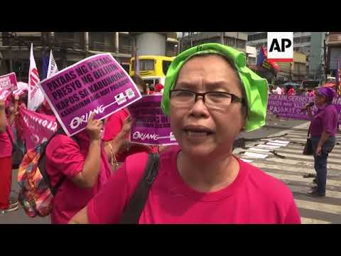 Protests in Manila and Hong Kong on International Women's Day