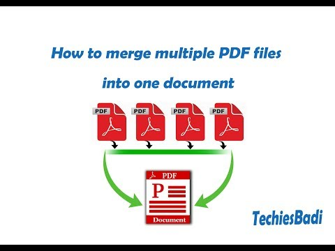 How to merge multiple PDF files into one document