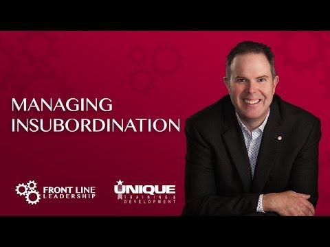 Managing Insubordination