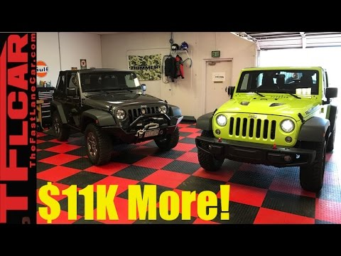 2017 Jeep Wrangler Rubicon vs Sport Mashup Review: Is The Rubicon Worth $11K More?