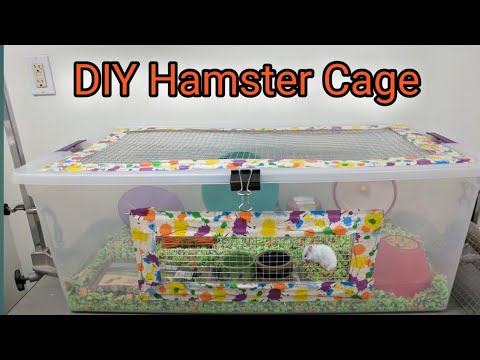 How to make a Bin Cage for a Hamster