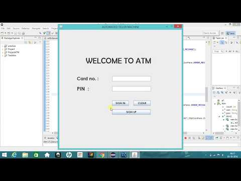 ATM Simulator System (Java project)