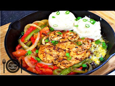 How to Make TGI Fridays Sizzling Chicken and Shrimp    Cooking With Confidence