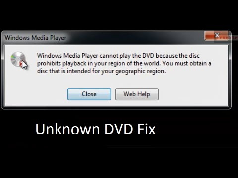 How to fix Windows Media Player cannot play the DVD because the disc prohibits playback in your