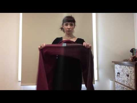 How to Simple front torso carry with short woven wrap (keep calm and carry them)
